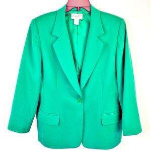 Pendleton Green Wool Blazer Holiday Jacket VTG